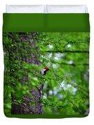 Red Headed Beauty Duvet Cover