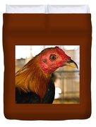 Red Headed Chicken Head Duvet Cover