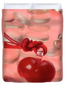 Red Heart Of Love Duvet Cover