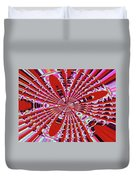 Red Heavy Screen Abstract Duvet Cover