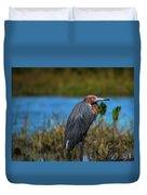 Red Heron Duvet Cover