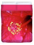 Red Hibiscus 3 Duvet Cover