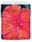 Red Hibiscus Duvet Cover