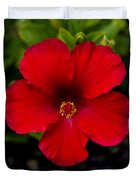 Red Hibiscus - Kauai Duvet Cover