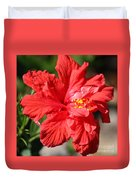 Red Hibiscus Square Duvet Cover