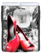 Red High Heels Duvet Cover