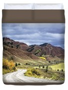 Red Hills Autumn Color Duvet Cover