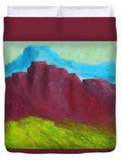 Red Hills Revisited. Duvet Cover