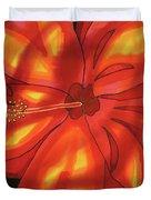 Red Hibiscus 1 Duvet Cover