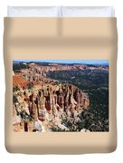 Red Hoodoos Of Bryce Canyon National Park Duvet Cover