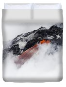 Red Hot Lava And Steam Duvet Cover