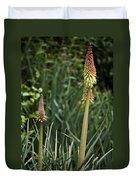 Red Hot Poker Bloom Duvet Cover