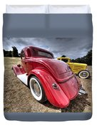 Red Hot Rod - 1930s Ford Coupe Duvet Cover