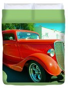 Red Hot Rod Duvet Cover