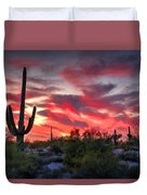 Red Hot Sonoran  Duvet Cover