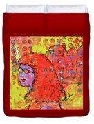 Red Hot Summer Girl Duvet Cover