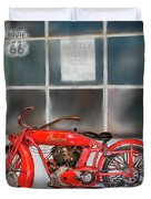 Red Hot Tail Gunner Duvet Cover