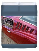 Red Hot Vents - Classic Fastback Mustang Duvet Cover