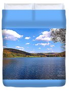 Red House Lake Allegany State Park Expressionistic Effect Duvet Cover