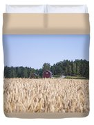 Red House Wheat Field Duvet Cover
