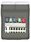 Red Hued Step-chair Duvet Cover