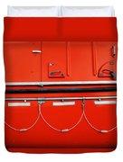 Red Hull Duvet Cover