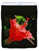 Red Hyacinth At Pilgrim Place In Claremont-california Duvet Cover