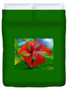 Red Hyacinth In Bourbon Resort Gardens Near Iguazu Falls National Park-brazil  Duvet Cover