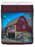 Red Indiana Barn Duvet Cover