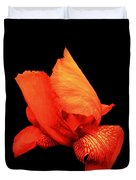 Red Iris Duvet Cover