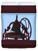 Red Iron Bell Duvet Cover
