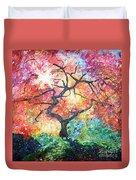 Red Japanese Maple Duvet Cover