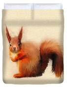 Red Squirrel Duvet Cover