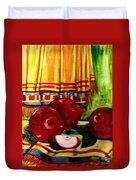 Red Juicy Apples Duvet Cover