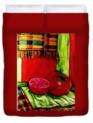 Red Juicy Tomatoe's Duvet Cover