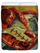 Red Laces  Duvet Cover