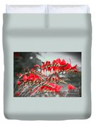 Red Lady Fingers Duvet Cover