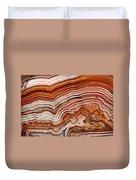 Red Laguna Lace Agate Duvet Cover