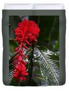 Red Lava Flower Duvet Cover