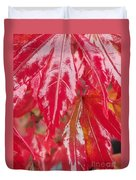 Red Leaf Abstract Duvet Cover