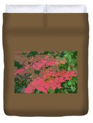 Red Leafs Work Number 12 Duvet Cover