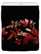 Red Leaves Duvet Cover