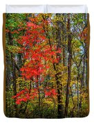 Red Leaves Of Autumn Duvet Cover