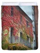 Red Leaves Of Fall Duvet Cover