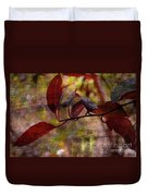 Red Leaves Painted Effect Duvet Cover