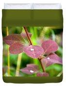 Red Leaves Plant Duvet Cover