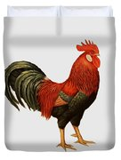 Red Leghorn Rooster Duvet Cover