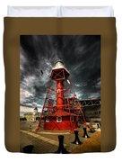 Red Lighthouse Duvet Cover
