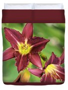 Red Lily 2 Duvet Cover