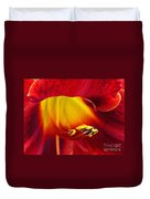 Red Lily Center 4 Duvet Cover